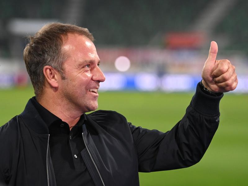 Hansi Flick feiert seine Premiere als Bundestrainer. Foto: Sven Hoppe/dpa