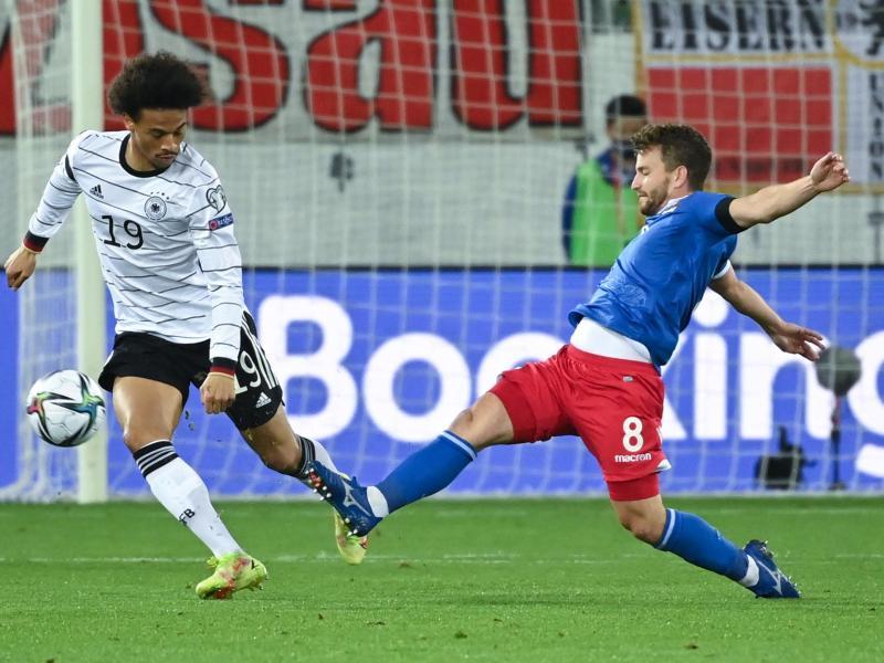 Zeigte eine ansprechende Partie gegen Liechtenstein: Leroy Sané (l). Foto: Sven Hoppe/dpa