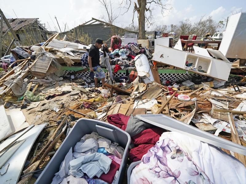 In Louisiana hat Hurrikan «Ida» viel Verwüstung hinterlassen. Foto: David J. Phillip/AP/dpa