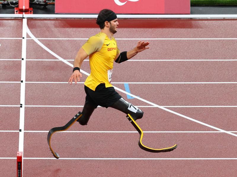 Holte Bronze über 200 Meter Männer: Ali Lacin. Foto: Karl-Josef Hildenbrand/dpa