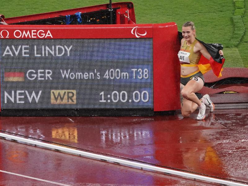 Lief in Weltrekordzeit zu Paralympics-Gold: Lindy Ave. Foto: Marcus Brandt/dpa