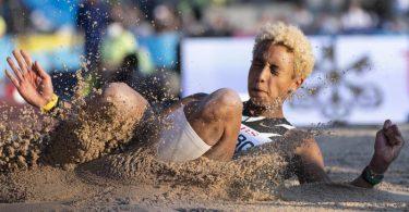 Malaika Mihambo sprang in Zürich nur auf den fünften Platz. Foto: Ennio Leanza/KEYSTONE/dpa