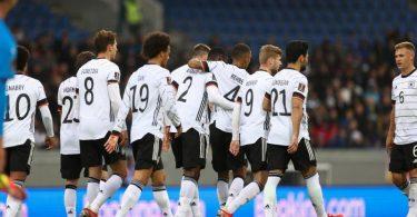 Die DFB-Elf gewinnt auf Island mit 4:0. Foto: Christian Charisius/dpa