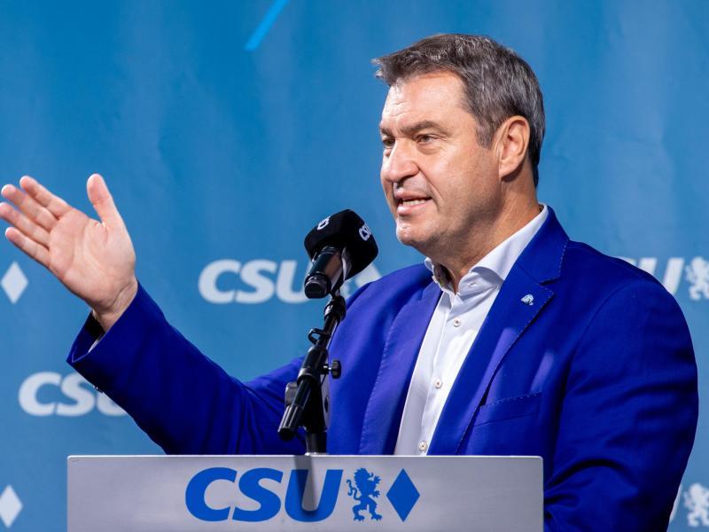 Der Union läuft nach Ansicht von Markus Söder die Zeit für eine Trendwende vor der Wahl davon. Foto: Daniel Karmann/dpa