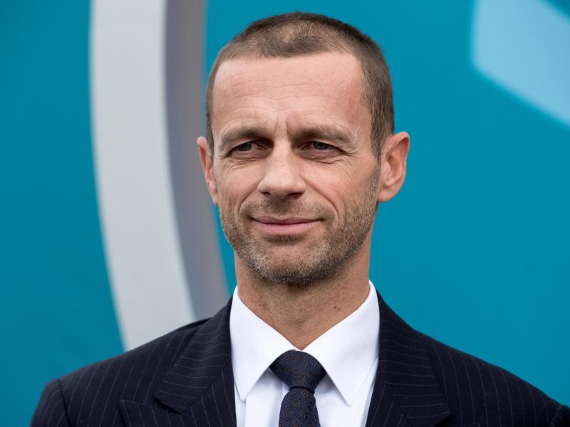 Droht im Falle einer zweijährigen Fußball-WM mit einem europäischen Boykott: UEFA-Boss Aleksander Ceferin. Foto: picture alliance / dpa