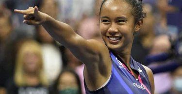 Frech und ungezwungen: Leylah Fernandez reagiert nach ihrem Sieg im Halbfinale. Foto: Seth Wenig/AP/dpa