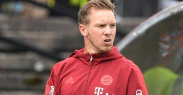 Muss mit dem FC Bayern München gegen seinen Ex-Club RB Leipzig antreten: Trainer Julian Nagelsmann. Foto: Silas Stein/dpa