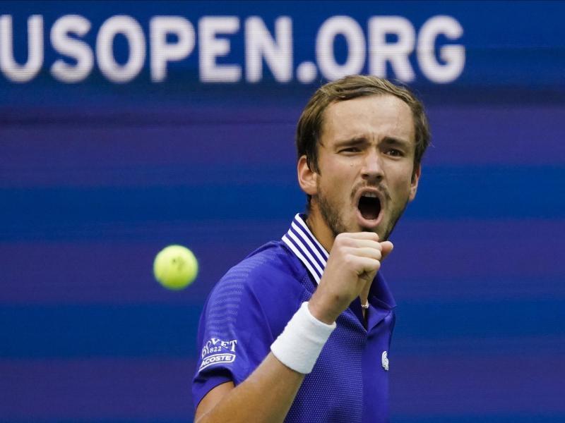 Daniil Medwedew hat einen Punkt gemacht. Foto: Seth Wenig/AP/dpa