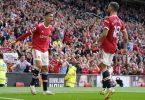 Cristiano Ronaldo (l) schoss Manchester United bei seinem Comeback mit einem Doppelpack zum Sieg. Foto: Martin Rickett/PA Wire/dpa