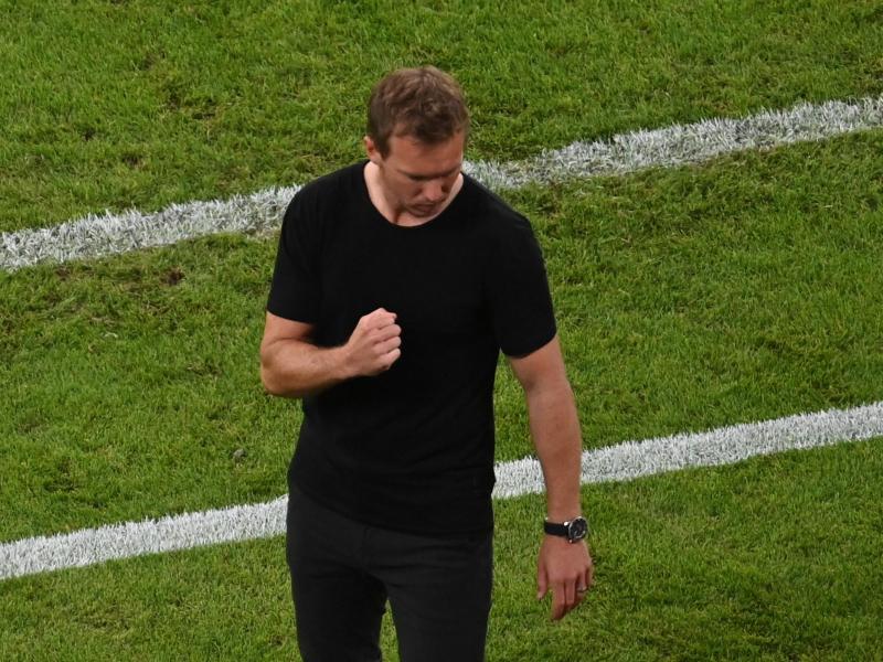 Trainer Julian Nagelsmann gewann mit dem FC Bayern München an alter Wirkungsstätte. Foto: Robert Michael/dpa-Zentralbild/dpa