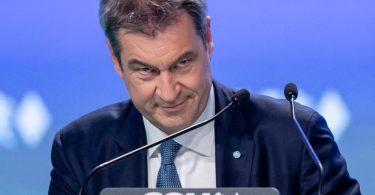 Parteichef Markus Söder beim CSU-Parteitag in Nürnberg am vergangenen Wochenende. Foto: Daniel Karmann/dpa