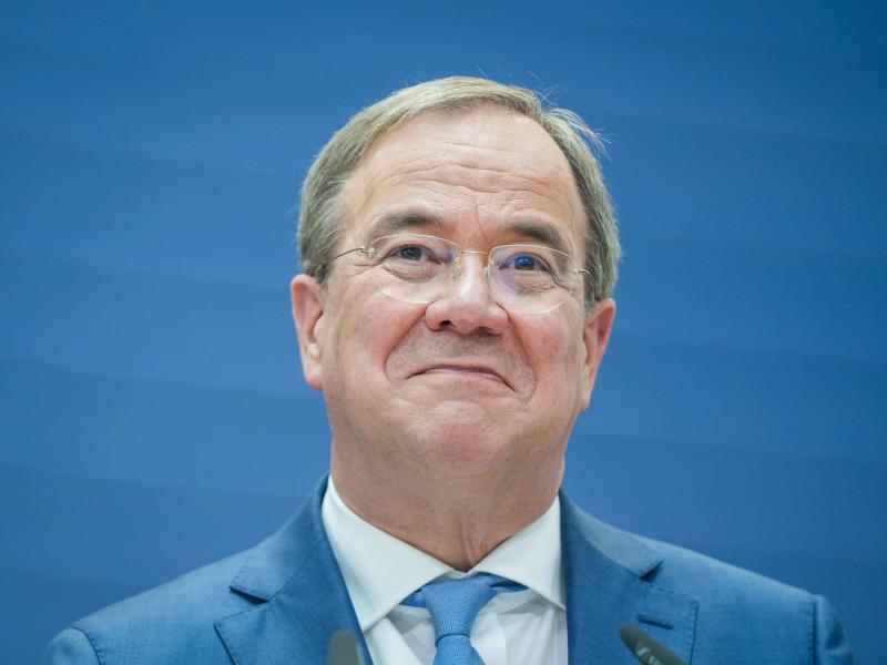 Kanzlerkandidat Armin Laschet: Eine neue Umfrage siehtd die Union bei 21 Prozent. Foto: Kay Nietfeld/dpa