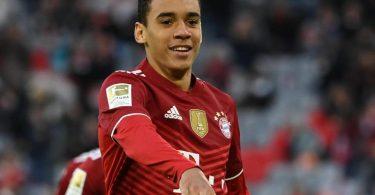 Bayern-Offensivspieler Jamal Musiala darf in Barcelona von Anfang an ran. Foto: Sven Hoppe/dpa