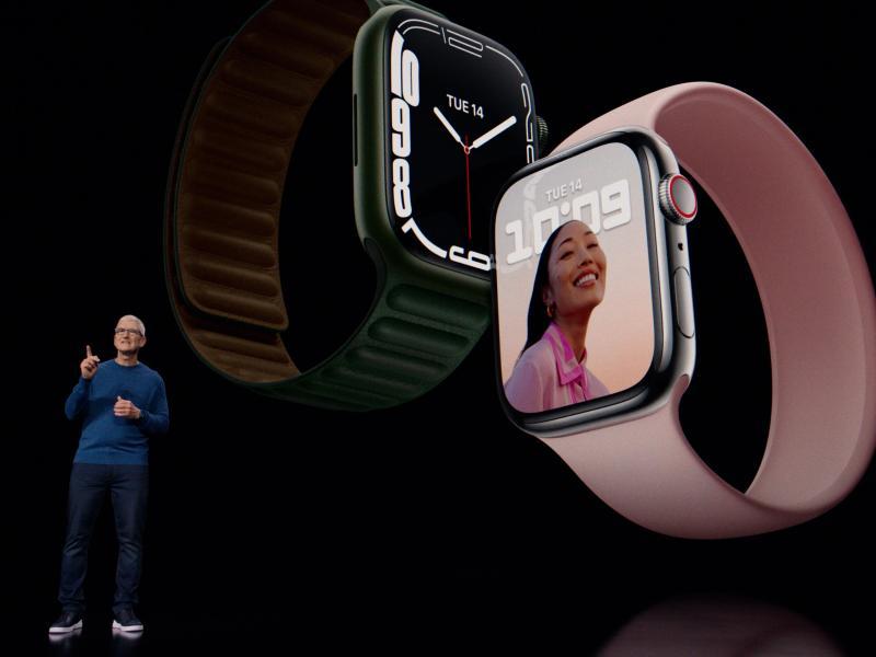 Die neue Apple Watch hat ihr charakteristisches Aussehen behalten. Foto: -/Apple/dpa