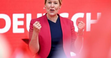Die Spitzenkandidatin der SPD: Die ehemalige Bundesfamilienministerin Franziska Giffey. Foto: Britta Pedersen/dpa