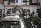 Bei dem Drohnenangriff wurde ein Auto vor einem Haus in Kabul getroffen. Doch es starben keine Terroristen, sondern Zivilisten. Foto: Khwaja Tawfiq Sediqi/AP/dpa