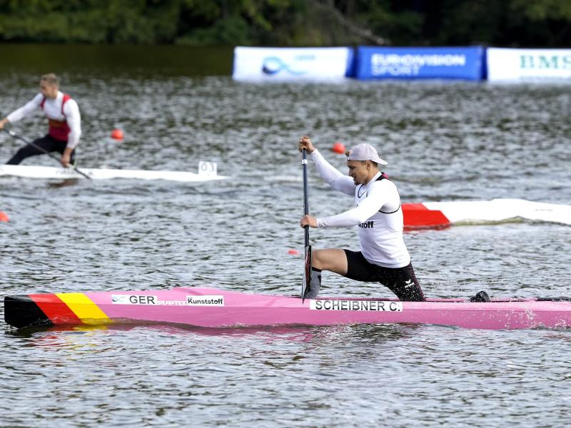 Weltmeister im Einer-Canadier: Conrad Scheibner. Foto: Keld Navntoft/Ritzau Scanpix/AP/dpa