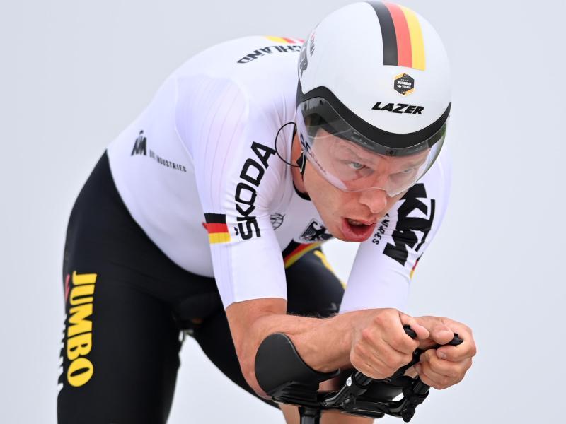 Fuhr beim Einzelzeitfahren in Brügge auf Rang sechs: Tony Martin. Foto: David Stockman/BELGA/dpa