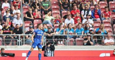 Leverkusens Florian Wirtz feiert sein Tor zum 3:1. Foto: Tom Weller/dpa