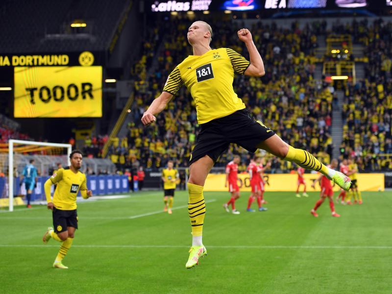Dortmunds Erling Haaland traf gegen Union doppelt. Foto: Bernd Thissen/dpa