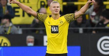 Dortmunds Erling Haaland steht nach fünf Spieltagen in der Bundesliga bereits bei sieben Treffern. Foto: Bernd Thissen/dpa