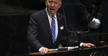 «Zusammenarbeiten wie nie zuvor»: US-Präsident Joe Biden in New York. Foto: Timothy A. Clary/Pool AFP/AP/dpa