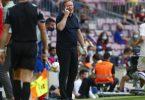 Cheftrainer Ronald Koeman steht in Barcelona in der Kritik. Foto: Joan Monfort/AP/dpa