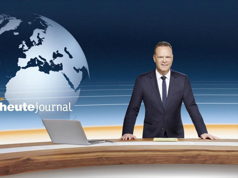 Christian Sievers im ZDF-Studio. Foto: Klaus Weddig/ZDF/dpa