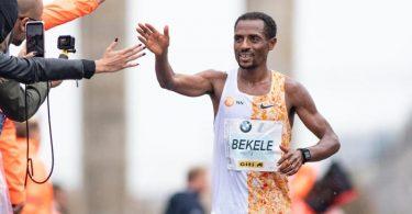Geht mit Zuversicht in den Berlin-Marathon: Der Äthiopier Kenenisa Bekele. Foto: Soeren Stache/dpa-Zentralbild/dpa