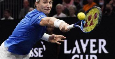 Der Norweger Casper Ruud holte gegen Reilly Opelka den ersten Sieg für das europäische Team. Foto: Elise Amendola/AP/dpa