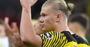 Dortmunds Erling Haaland fällt in Mönchengladbach aus. Foto: Bernd Thissen/dpa