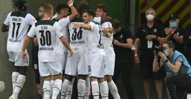 Gladbach feierte gegen Dortmund einen wichtigen Sieg. Foto: Bernd Thissen/dpa