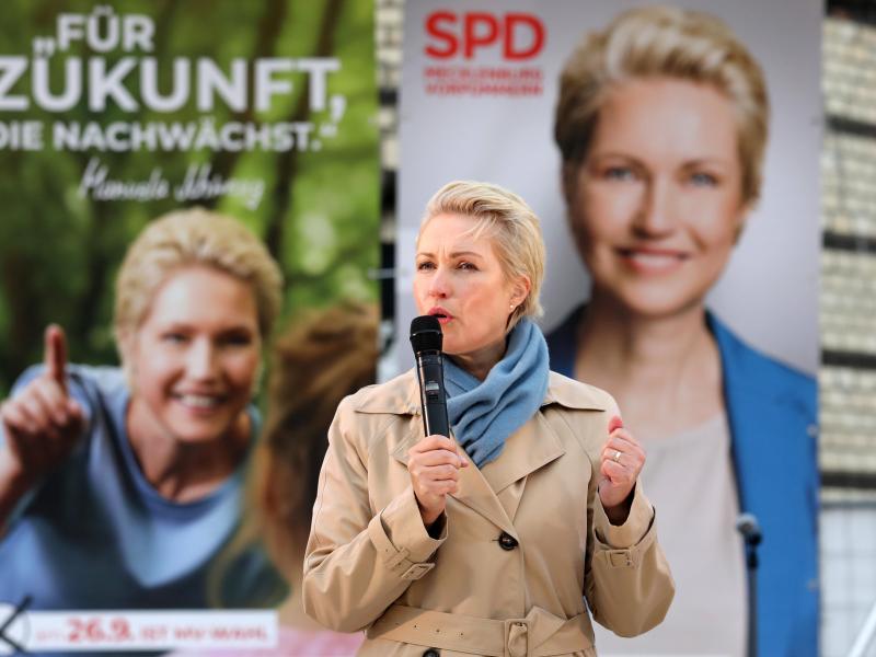 Laut letzten Umfragen kann Ministerpräsidentin und Spitzenkandidatin Manuela Schwesig auf einen Wahlsieg hoffen. Foto: Bernd Wüstneck/dpa-Zentralbild/dpa