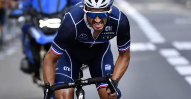 Julian Alaphilippe gewann erneut die Straßenrad-WM. Foto: Pool Kristof Ramon/BELGA/dpa