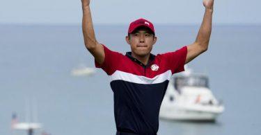 Collin Morikawa war beim 43. Ryder Cup der Matchwinner für das US-Team. Foto: Ashley Landis/AP/dpa