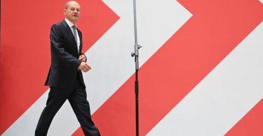 Olaf Scholz, Kanzlerkandidat der SPD, wird von seiner Partei auch nach der Wahl unterstützt. Foto: Britta Pedersen/dpa
