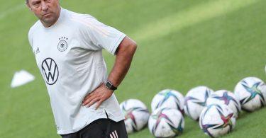 Hansi Flick hat als Bundestrainer noch eine makellose Bilanz. Foto: Tom Weller/dpa