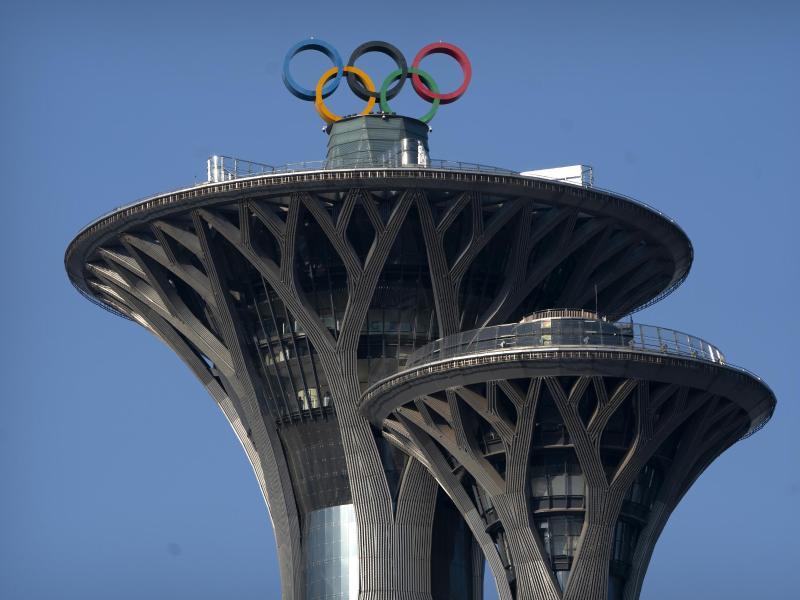 Zu den Olympischen Winterspielen 2022 in Peking werden keine Zuschauer aus dem Ausland zugelassen. Foto: Mark Schiefelbein/AP/dpa