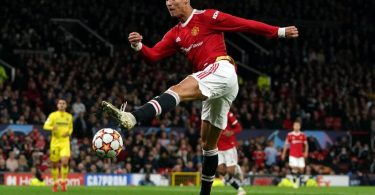 Cristiano Ronaldo von Manchester United beim Spiel gegen den FC Villarreal in Aktion. Foto: Martin Rickett/PA Wire/dpa