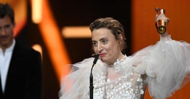 Maren Eggert gewann die Lola für die beste weibliche Hauptrolle. Foto: Soeren Stache/dpa