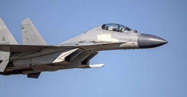 Auf diesem vom taiwanesischen Verteidigungsministerium veröffentlichten undatierten Foto ist ein chinesischer J-16-Kampfjet zu sehen. Foto: Uncredited/Taiwan Ministry of Defense/AP/dpa