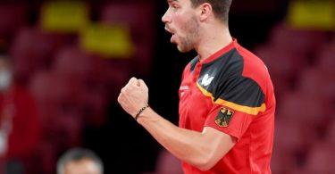 Tischtennis-Spieler Patrick Franziska holte zwei Punkteim Finale. Foto: Swen Pförtner/dpa