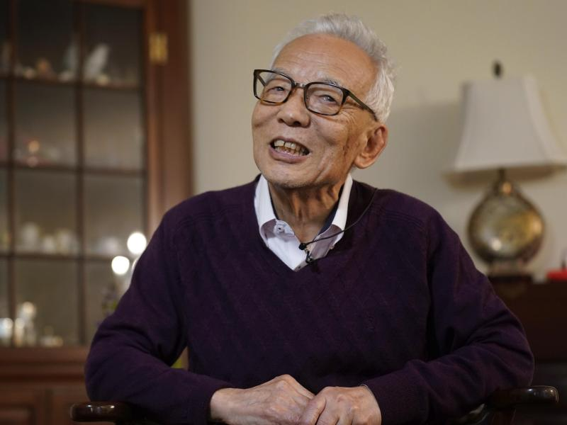 Syukuro Manabe teilt sich eine Hälfte des Nobelpreises mit Klaus Hasselmann. Foto: Seth Wenig/AP/dpa