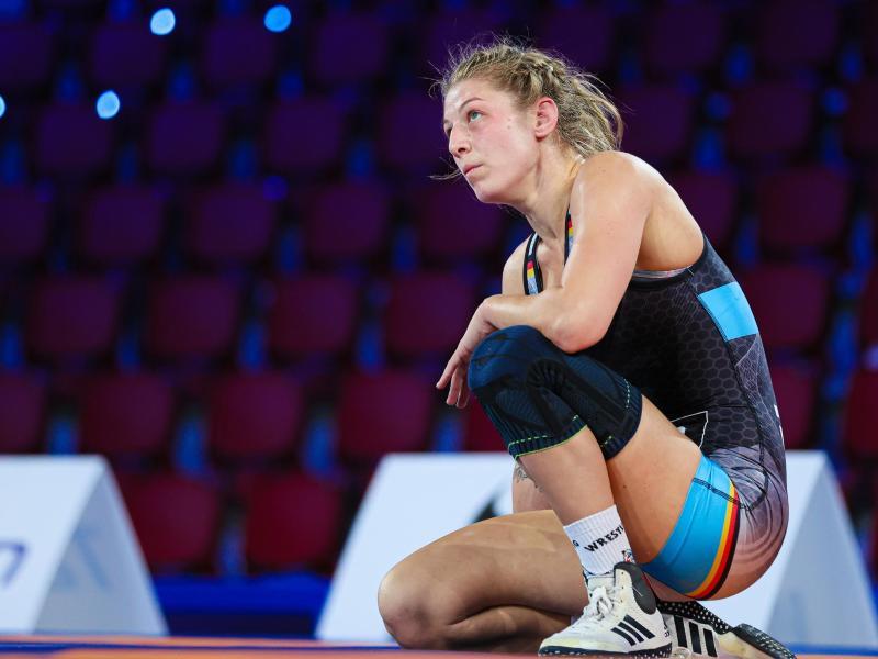 Ringerin Nina Hemmer verpasste den WM-Titel. Foto: Kadir Caliskan/United World Wrestling/dpa
