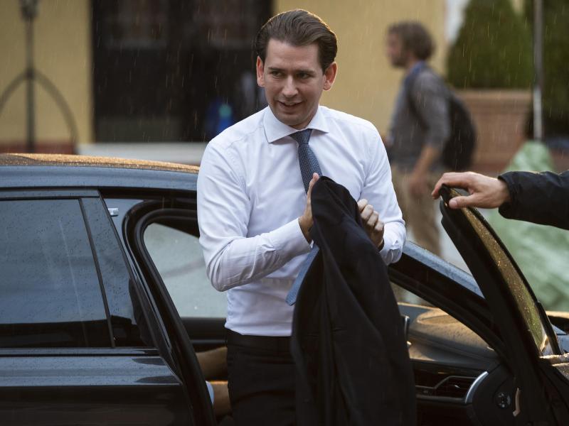 Österreichs Bundeskanzler Sebastian Kurz sieht sich Korruptionsvorwürfen ausgesetzt. Foto: Jaroslav Novák/TASR/dpa