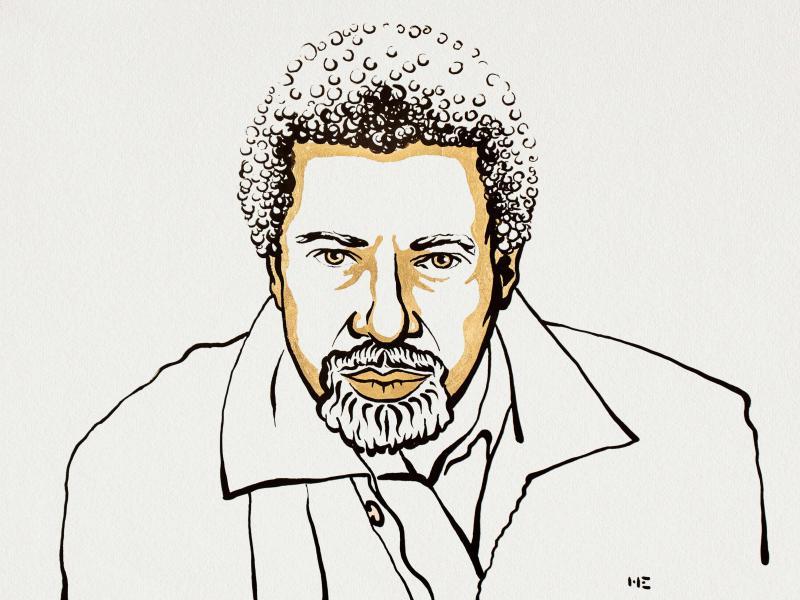 Die Illustration zeigt den Schriftsteller Abdulrazak Gurnah. Foto: Niklas Elmehed/Nobel Prize Outreach/dpa