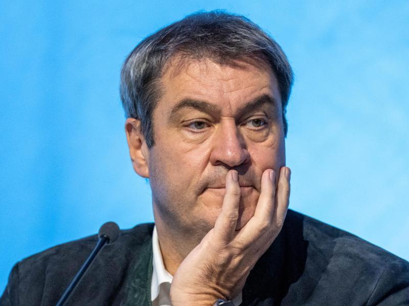 «Die Ampel ist am Zug», sagt Markus Söder, CSU- Parteivorsitzender und Ministerpräsident von Bayern. Foto: Armin Weigel/dpa