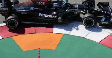 Der Finne Valtteri Bottas vom Team Mercedes startet beim Großen Preis der Türkei von der Pole-Position. Foto: Sergei Grits/AP/dpa