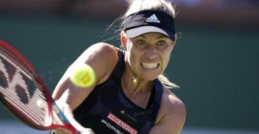 Kerber zieht beim Tennis-Turnier in Indian Wells nach einem 6:2, 1:6 und 6:4 gegen Darja Kasstkina ins Achtelfinale . Foto: Mark J. Terrill/AP/dpa