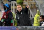 Kann seinen Fokus schon Richtung WM in Katar wenden: Bundestrainer Hansi Flick. Foto: Federico Gambarini/dpa